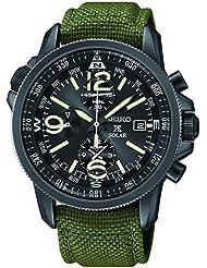 Seiko SSC295P1 Prospex Mens Solar Military Alarm Chronograph 100m Water Resistant,SSC295