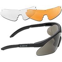 Mil-Tec Sportbril, rubber zwart, één maat