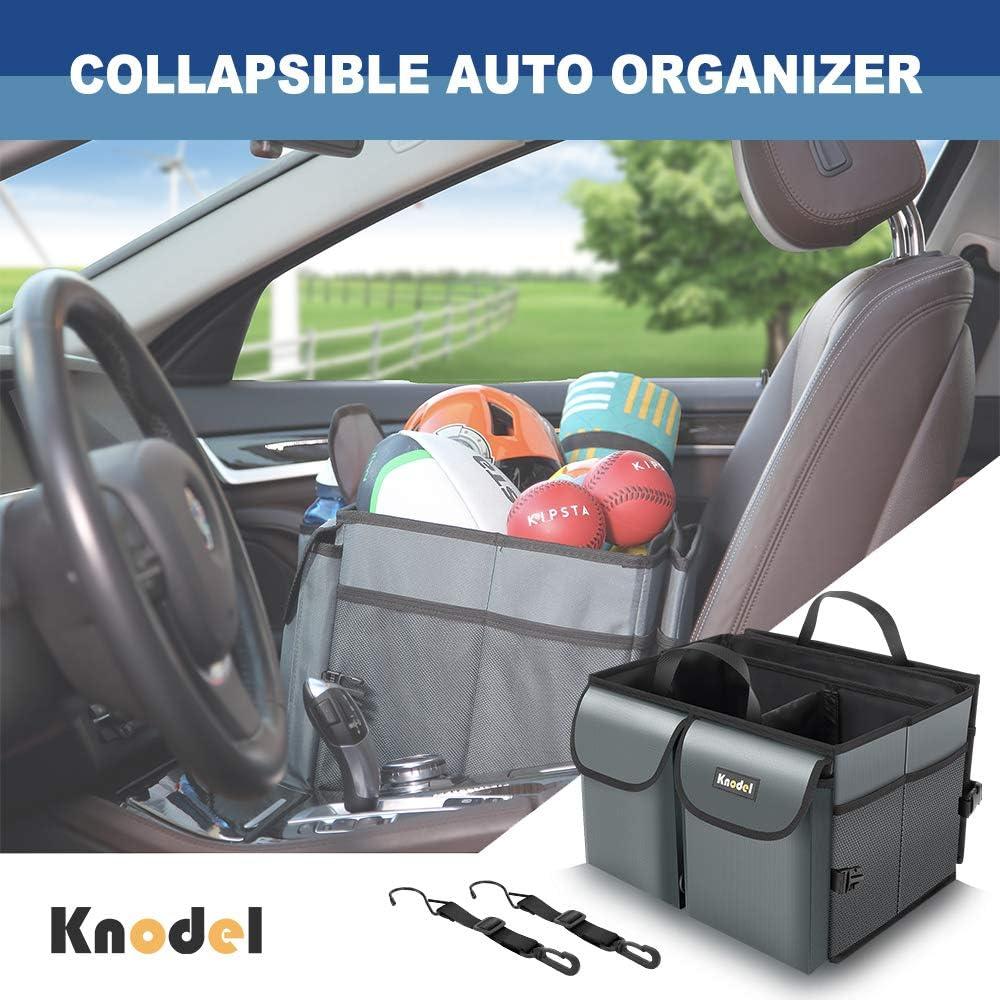 Non Slip Bottom Black Knodel Car Trunk Organizer Auto Car Boot Organizer with Securing Straps