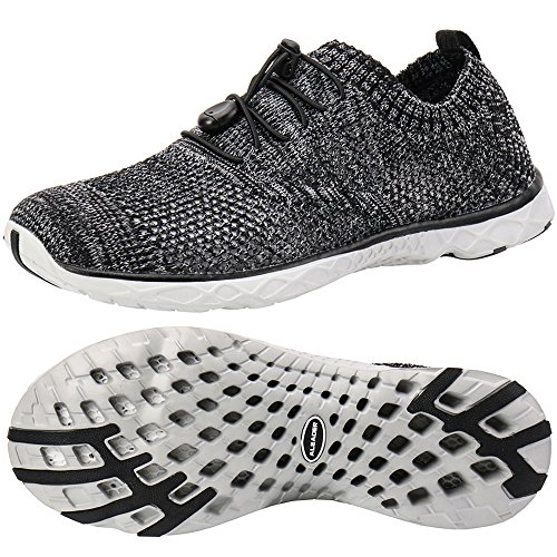 - ALEADER Men's Adventure Aquatic Water Shoes Gray/Mixed 9 D(M) US