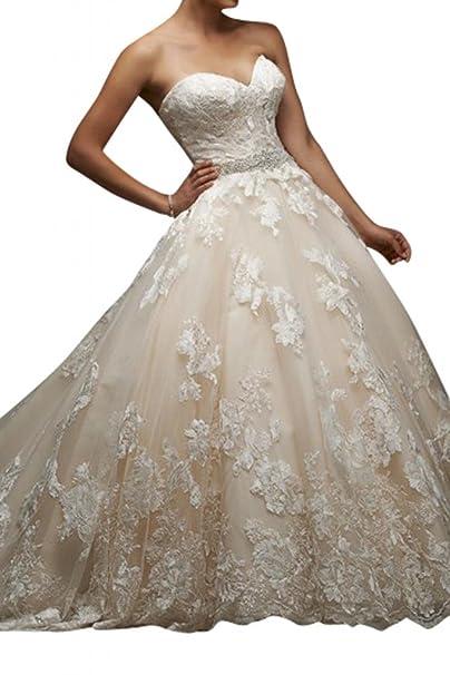 Toskana novia novia Mode sueño antiadherente Princesa Vestidos de novia largo tuell con punta boda Vestidos