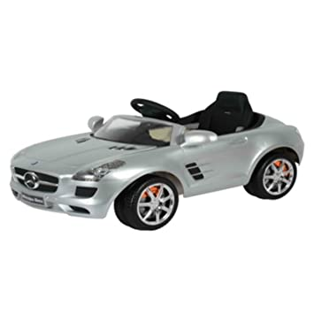 mercedes benz sls amg 6v kids ride on battery powered wheels car remote control