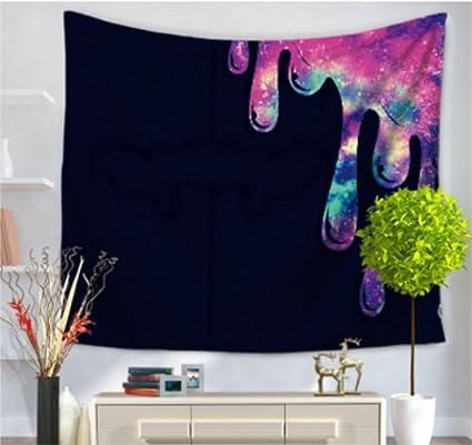 Tapiz pintado con diseño de plumas en estampado tipo mandala, étnico, para colgar en