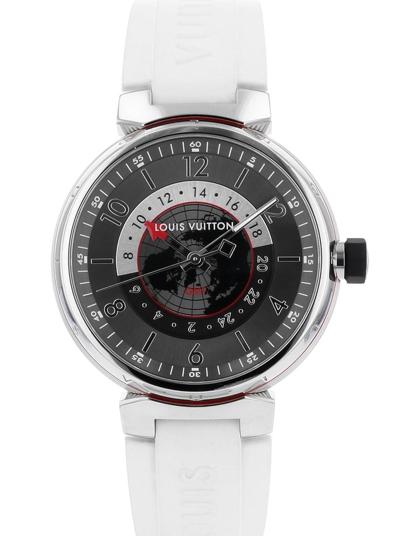 [ルイヴィトン] 腕時計 LOUIS VUITTON Q1D30 タンブール グラフィット GMT SS/ホワイトラバー グレー文字盤 [中古品] [並行輸入品] B07DJ4XMP7