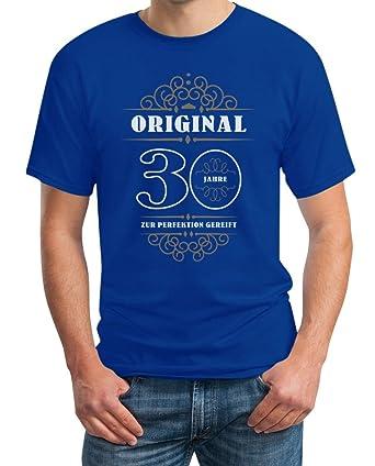 Geburtstag 30 Jahre - Original Perfektion Gereift Geschenkidee T-Shirt  Small Blau