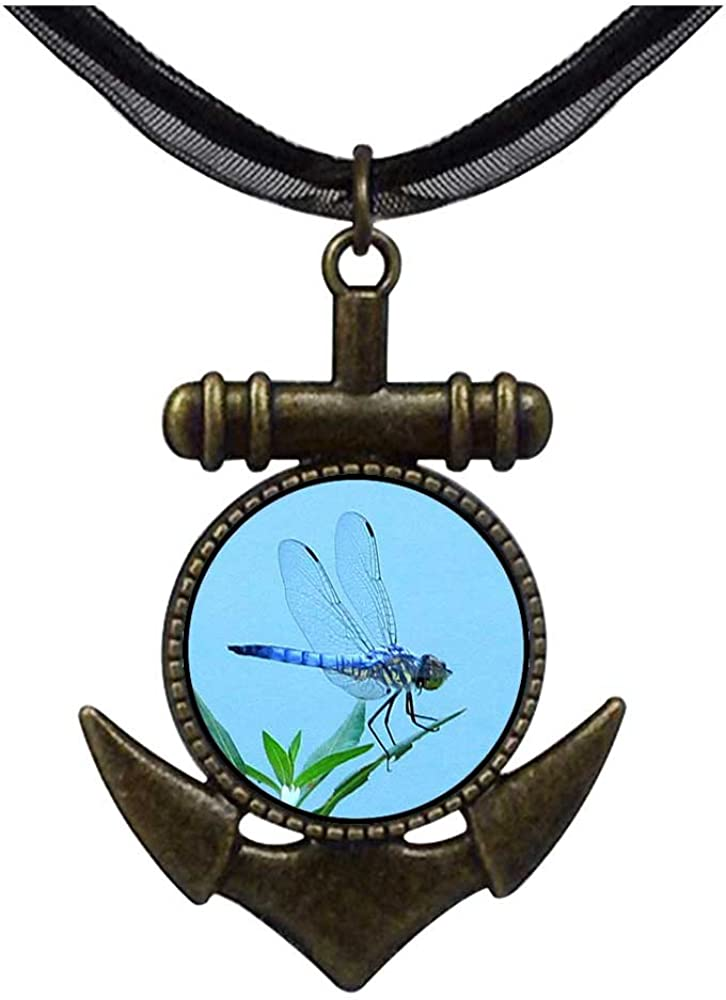 GiftJewelryShop Bronze Retro Style Beautiful Lovely Dragonfly Anchor Charm Pendant Necklaces #8