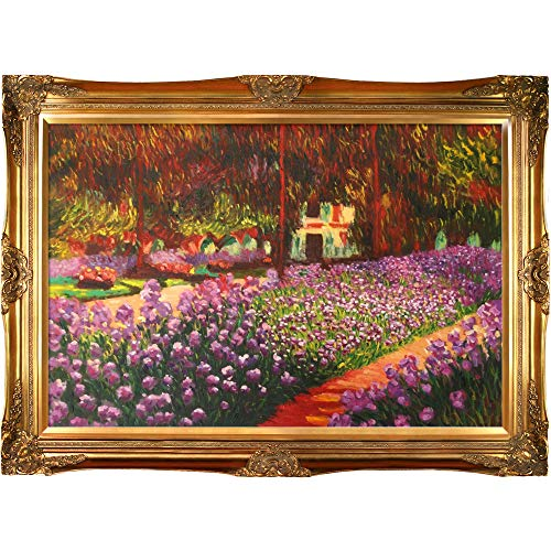 - La Pastiche overstockArt Artist's Garden at Giverny Painting with Victorian Gold Frame by Monet