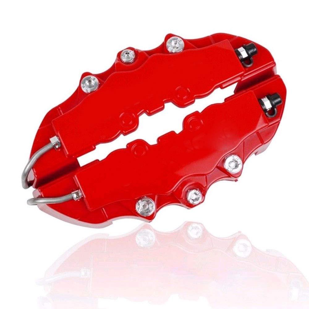 Gallocabe 4Pcs Red Caliper Cover Kit Car Universal Disc Brake Caliper Covers Front & Rear