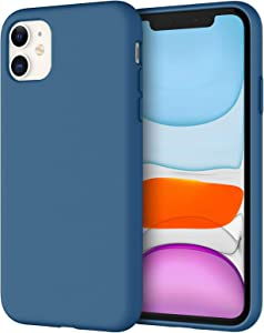 JETech Silicone Case for iPhone 11 (2019) 6.1-Inch, Silky-Soft Touch Full-Body Protective Case, Shockproof Cover with Microfiber Lining, Blue Cobalt