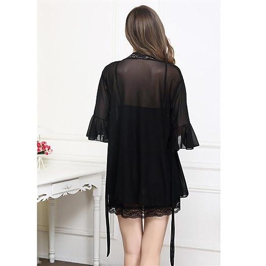 Amazon.com: kaifongfu Women Lingerie, Dress+Outwear Set Sleepwear Underwear (Free Size, Black): Clothing