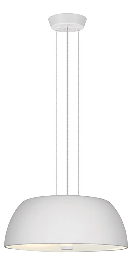 Eglo 90366A Ryan Chandelier Hanging Light, White - Ceiling Pendant ...