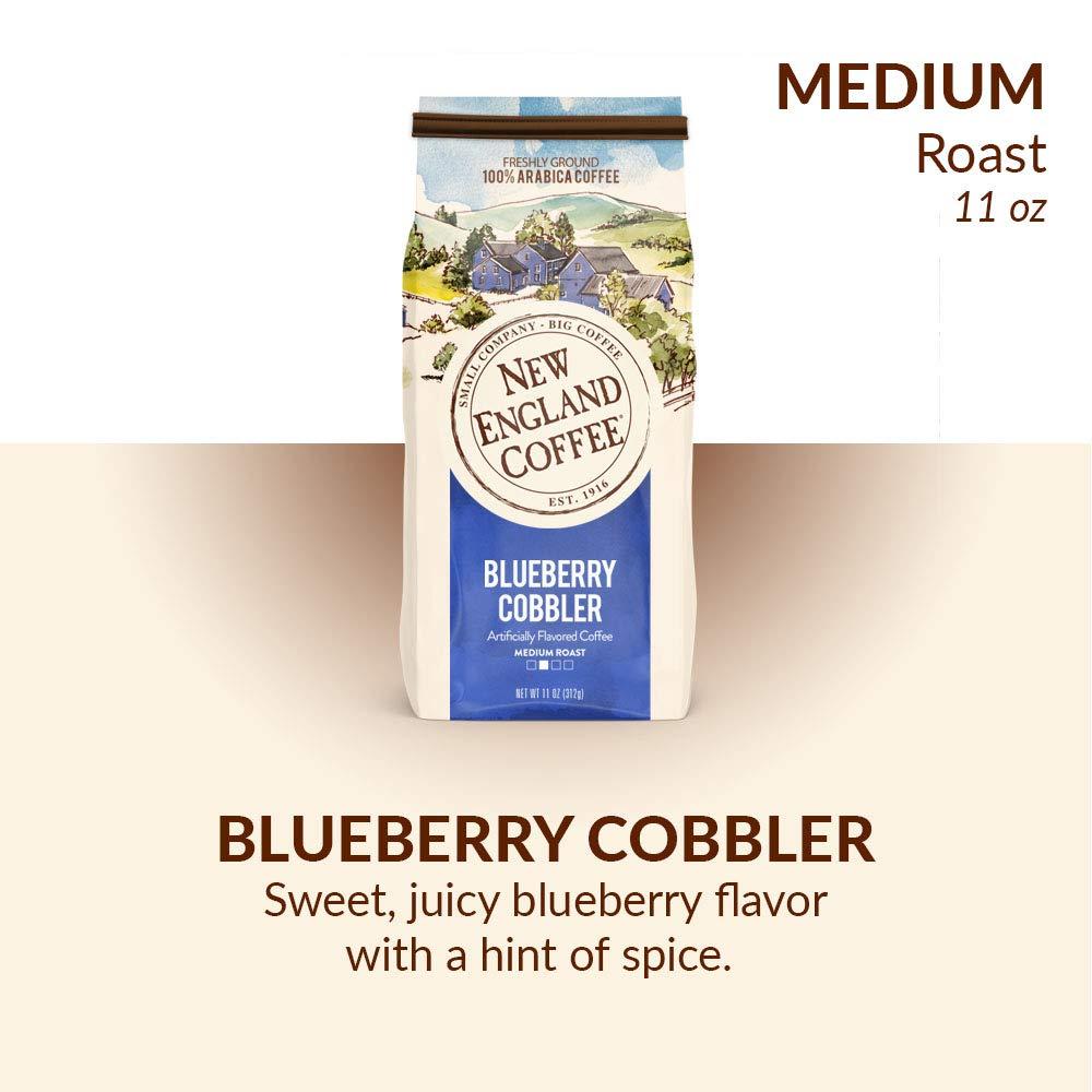 New England Coffee Blueberry Cobbler, Medium Roast Ground Coffee, 11 Ounce Bag by New England Coffee (Image #3)