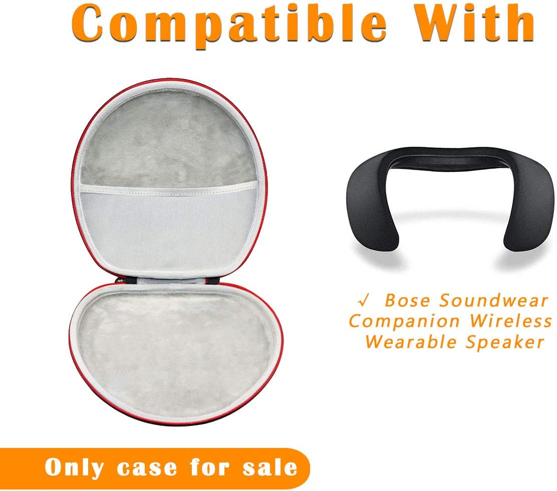 Asafez Travel Carrying Case for Bose Soundwear Companion and Accessories