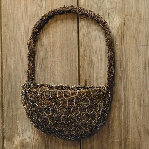 Heart of America Angel Vine Half-Round Wall Basket