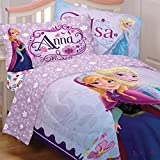 Disney Frozen Full Bedding Set 5pc Anna Elsa Celebrate Love Comforter and Sheets by Franco Manufacturing Company INC