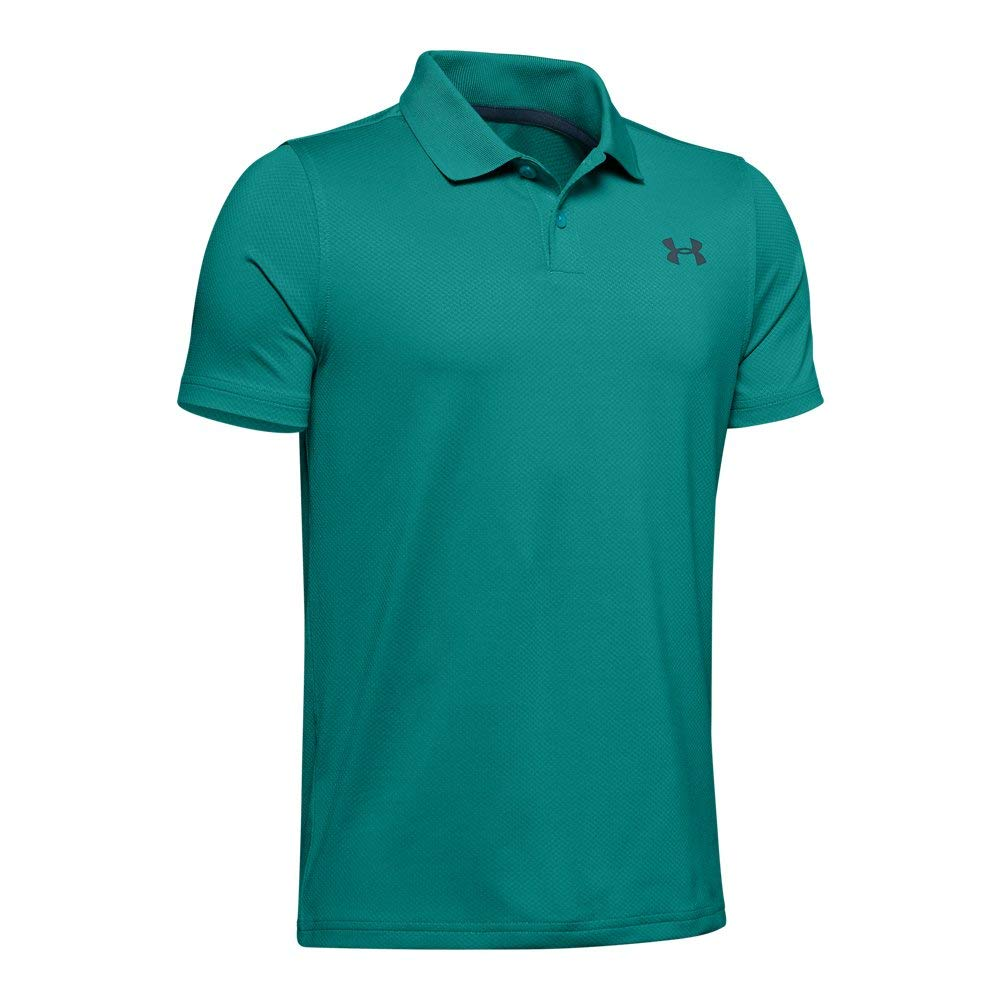 Under Armour Boys' Performance Polo 2.0, Teal Rush//wire, Youth X-Small by Under Armour