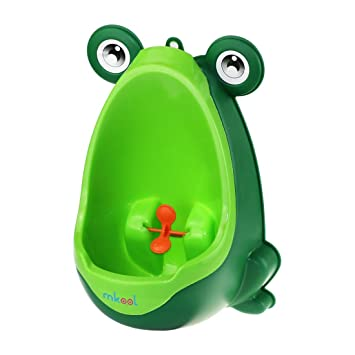 f23c11c881fc5 Amazon.com   mkool Cute Frog Potty Training Urinal for Boys with Funny  Aiming Target   Baby