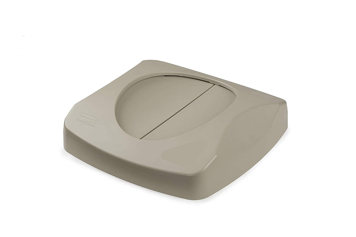 Rubbermaid Commercial Products Untouchable Trash/Recycling Swing Lid, Beige (FG268988BEIG)
