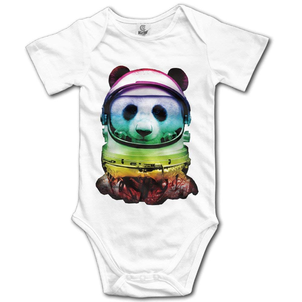 windekie Space Panda Astronaut Unisex Baby Bodysuit Onesie Baby Clothes