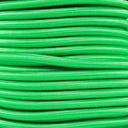 Bungee Elastic Nylon Shock Cord (1/4 Inch x 10 Feet, Neon Green) ()