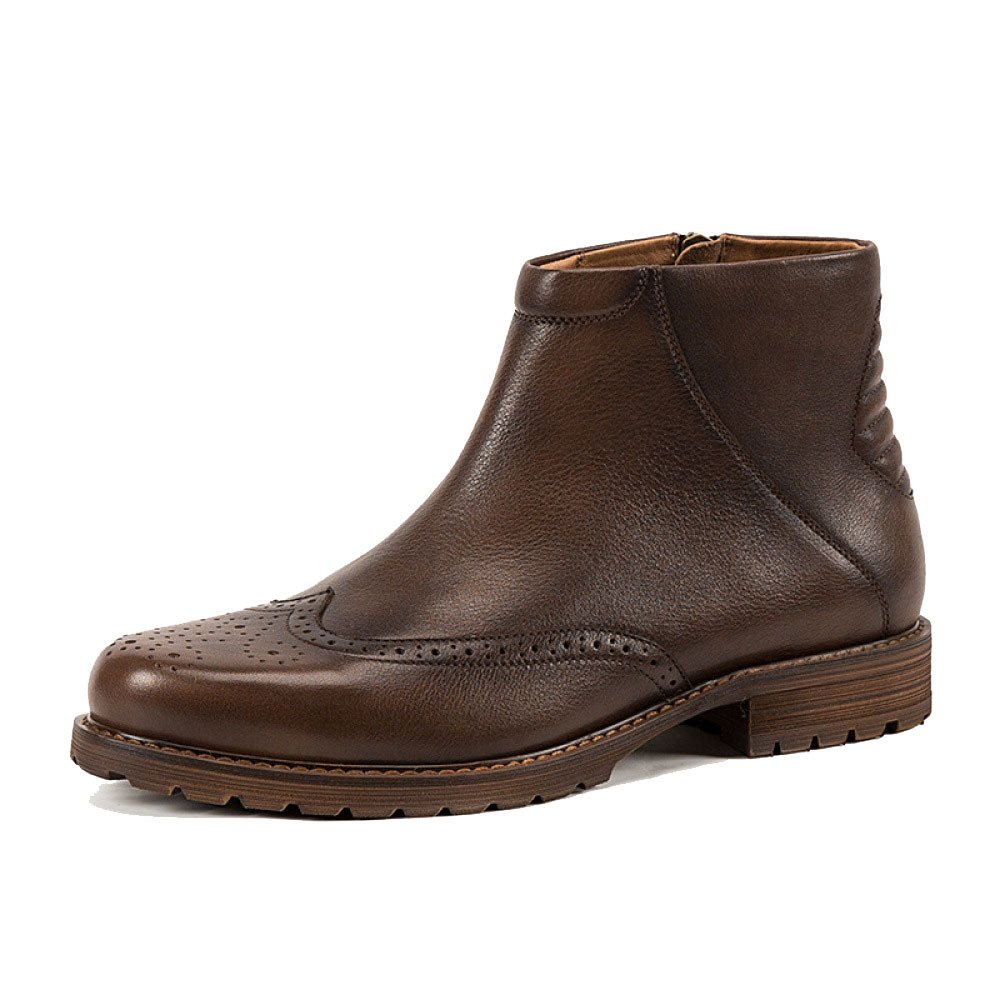 ZPJSZ Herren Casual British Stiefelies Mode Jugend Zipper Outdoor Lederstiefel