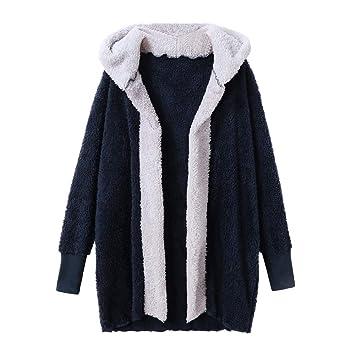 ... de Mujer Empalme Chaqueta Casual de Talla Grande Abrigo Largo Medio Abrigos Gruesos de Lana Vintage Abrigos Rebajas: Amazon.es: Deportes y aire libre