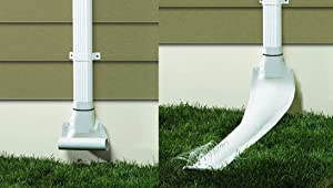 Pack of 4 Frost King Drain Away De46wh White Automatic Downspout Extender
