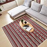 Edge to Carpet Rug Japanese-Style Hand-Woven Cotton Cotton Environmentally Friendly Cotton Absorbent pad mats Carpet mats Doormat Entrance Corridor Skid pad Yoga mat (Size : S)