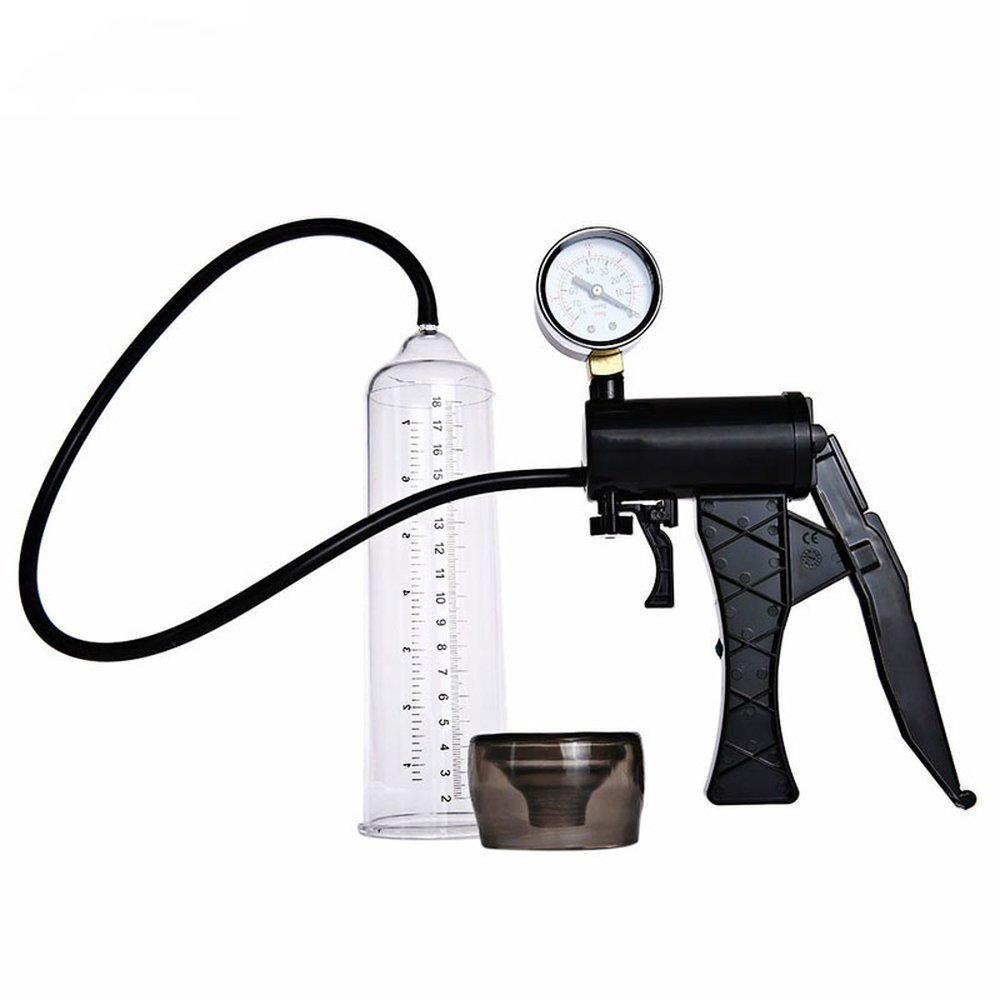 Male Hand Drive PeŇ-is P-űmp Enlarger Enlargement with Master Pressure Gauge Extension for Male Help PeŇ-is Extender