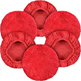 eFuncar Car Microfiber Cloths for Windshield Cleaning Tool - Coral Fleece Replaceable Thickened Glass Cleaning Bonnets - Interior Auto Window Cleaner Wand Brush Washing Pads - Fit 5