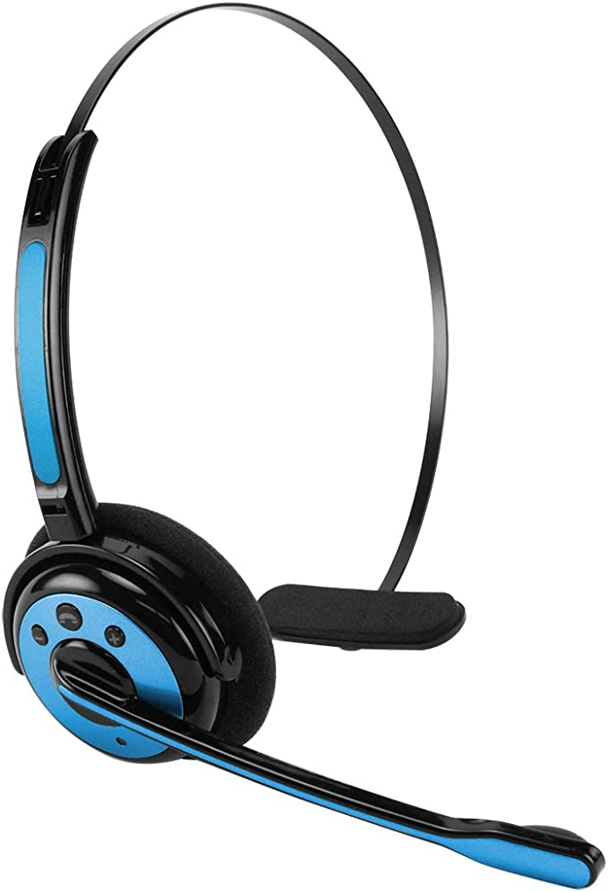 Amazon Com Cellet Pro Trucker Wireless Headset Cell Phone Headset With Microphone Office Wireless Headset On Ear Car Wireless Headphones For Cell Phone Skype Truck Driver Call Center Blue Home Audio Theater