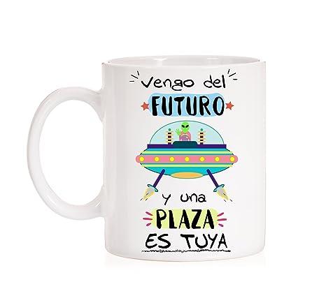 MardeTé Taza Opositor. Vengo del Futuro y una Plaza es Tuya. Taza de oposiciones