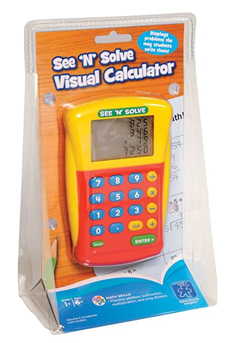 Amazon.com: Educational Insights See 'N' Solve Visual Calculator ...