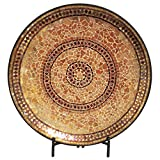 Cheap Urban Designs Imported Decorative Handcrafted Mosaic Plate Stand-Gold