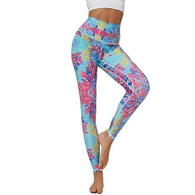 cinnamou Pantalones Mujer Pantalon Yoga Push Up Leggings Impresos ...