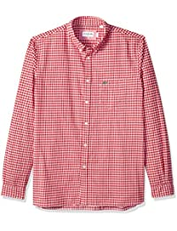 Men's Long Sleeve Reg Fit Checkbox Casual Button Down