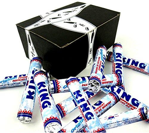 King Original Peppermints, 1.55 oz Rolls in a BlackTie Box (Pack of 12)