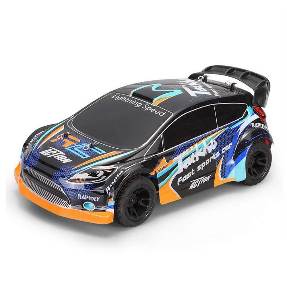 Wapipey Fernbedienung Auto Spielzeug Für Jungen High-Speed-Fernbedienung Rennwagen Metall Chassis Allradantrieb Elektro Drift Pull Auto 1 24 2,4G Elektro gebürstet 4WD RC Rally Car RTR