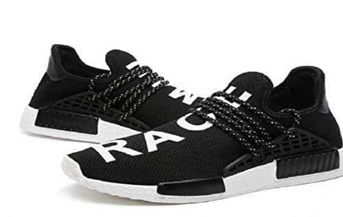 c10923e3bace Golf-Unisex Pharrell Williams NMD HU Human Race Black White Athlete Tennis  Running Sneakers