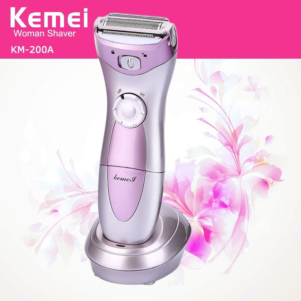Women Lady's Electric Rechargeable Hair Shaver Epilator Waterproof Multifunction Bikini Line Legs Armpit Body Trimmer Remover Razor Kemei-200A KM