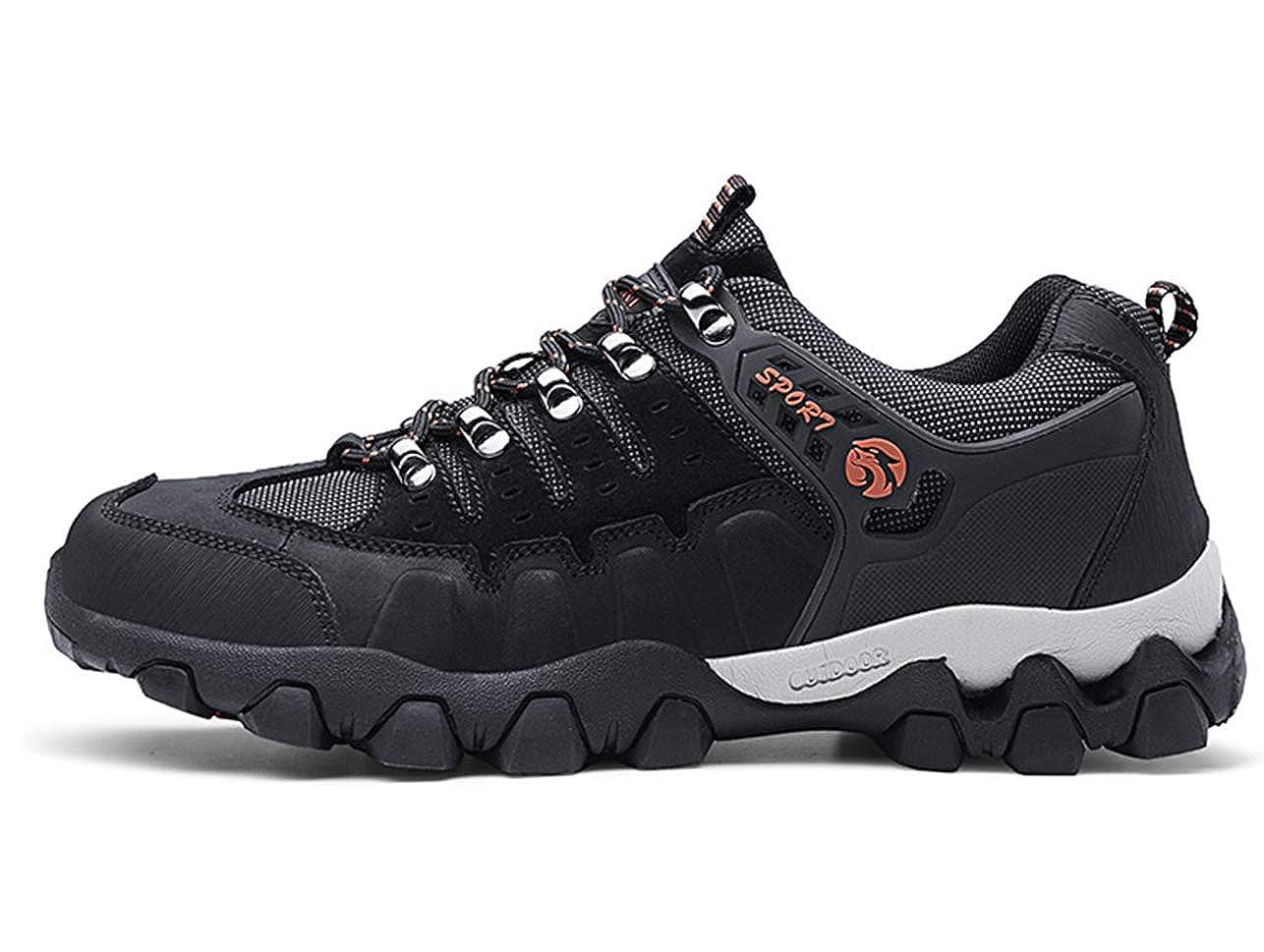 GJRRX para Hombre Botas de Senderismo Impermeables de Ocio al Aire Libre Zapatos de Deporte Zapatillas de Senderismo Cordones Trainer Botas 38-44