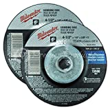 Milwaukee® 2 Pack - 4 1 2 Hubbed Grinding Wheel For Grinders - Aggressive Grinding For Metal & Stainless Steel - 4-1/2'' x 1/4 x 7/8-Inch | Depressed
