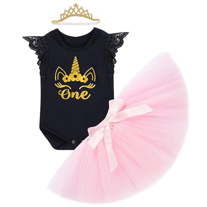 Obeeii Baby Madchen 1 Geburtstag Outfit Neugeborenen Prinzessin