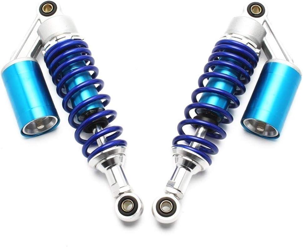 Blue//Silvery,1 Pair LIUYE 340mm Motorcycle Air Shocks Absorber Fit for Honda Yamaha Kawasaki ATV Go Kart Quad Dirt Sport Bikes