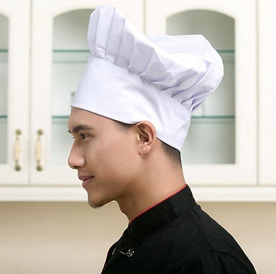 LUFA Chef Hat Cocina ajustable ajustable del panadero que cocina el sombrero  alto fijado para los restaurantes caseros de la comida de la cocina  Sombreros ... 80d2d167503