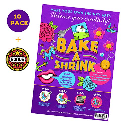 (Magic Shrink Sheets to Shrink Arts Free Key Chains/Magnetsd/Shrinkies Paper dinks)