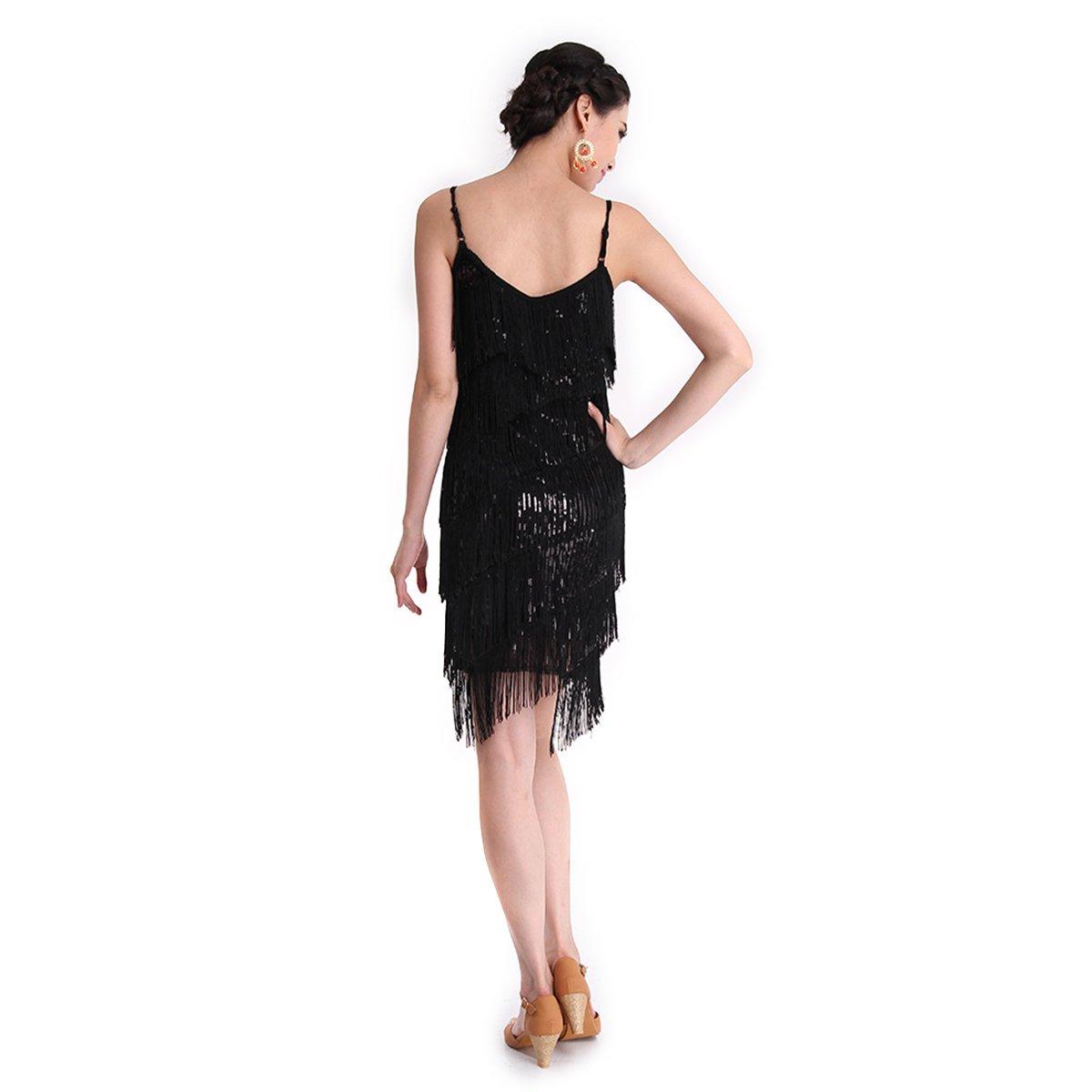 Danza Vestido CoastaCloud Mujer Concurso De Danza Vestido Tassle Latín Moderno Discoteca Rojo: Amazon.es: Deportes y aire libre