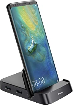 Amazon Com For Samsung Docking Station Baseus Usb Type C Hub Docking Station For Samsung Galaxy S10 S9 S8 S10 S9 Note 9 8 Dex Station Usb C To Hdmi Dock Power Adapter For Huawei P30 P20 Pro Mate