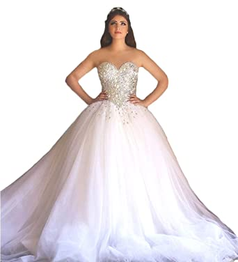 ScelleBridal Gorgeous 2017 Pearls Beaded Sleeveless Ball Gown ...