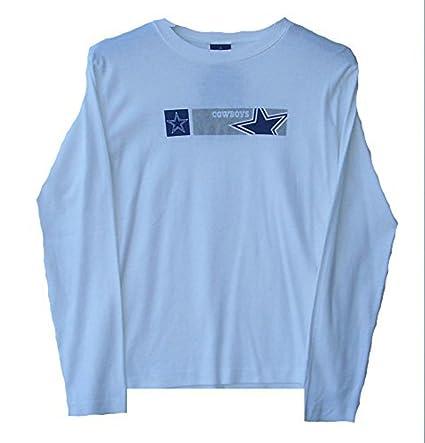 Amazon.com   Genuine Merchandise Dallas Cowboys Women s Size Small Long  Sleeve White Shirt - Ladies   Sports   Outdoors ca8b3778c